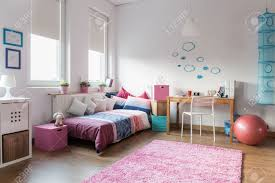 Teen Girls Bedroom by Teen Bedroom And Space For Study Stock Photo Picture And