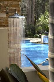 27 best outdoor shower images on pinterest outdoor showers outdoor shower adjacent to pool