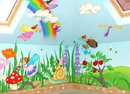 Cartoon Characters Or Animals Mural Painting For The Kids Room - Wall paint for kids room