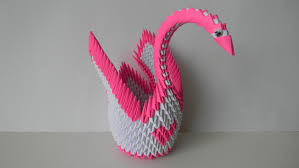 origami home decor 3d origami paper swan pink heart home decor paper