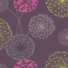 floral flower wallpaper firework modern lucienne plum pink green