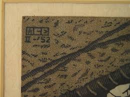 igavel auctions m c escher the puddle woodcut q2ry