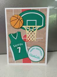 basketball card leah u0027s paper cuts and creations pinterest