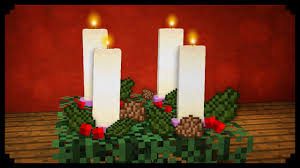 light up christmas candles minecraft how to make an advent candle youtube