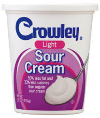 light sour cream nutrition crowley foods light sour cream