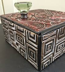 cigar table ellen vargo designs embossed metal altered cigar box