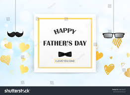love you dad happy fathers day stock vector 645078679 shutterstock