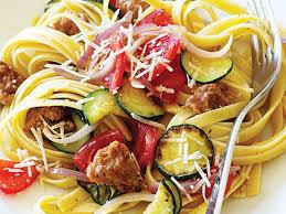 Pasta Sausage Italian Sausage And Zucchini Pasta Recipe Myrecipes