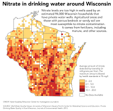 Wisconsin State Map by Nitrate In Water Widespread Current Rules No Match For It