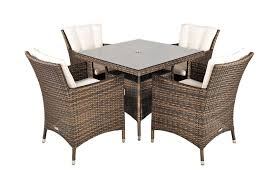 Savannah Outdoor Furniture by Savannah Rattan Garden Furniture 4 Seat Dining Set