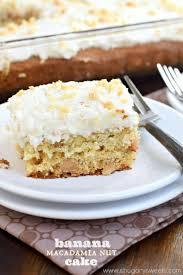 banana macadamia nut cake shugary sweets