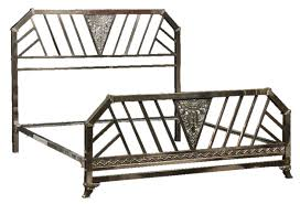 chrome art deco king size bed modernism