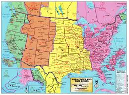 all us area codes us map based on time zones large detailed map of area codes and