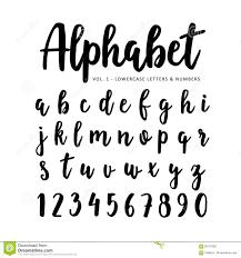 brush stroke alphabet font vector set stock vector image 71557697