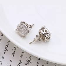 silver earrings studs vanaxin 925 silver earring studs for men gold silver color