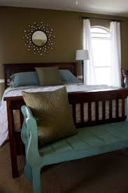 Rustic Wooden Bench Bedroom Brown Wooden Queen Size Bed And Rustic Wood Bench With