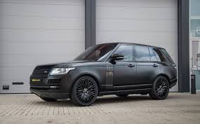 black land rover gloss and satin black range rover gains carbon styling mods
