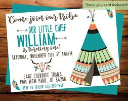 graphic design birthday invitations our little chief invite birthday invitation teepee tribe pow