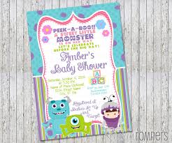 Free Baby Shower Invitation Templates Baby Shower Invitations Attractive Monsters Inc Baby Shower