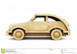 wooden car wooden toy car on white background 3d stock illustration image