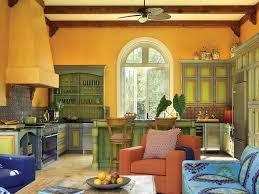 kitchen vintage colorful kitchens design in rustic decoration