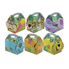 childrens boxes 24 x childrens cardboard lunch party boxes jungle design