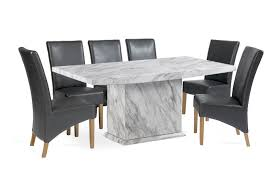 grey marble dining table caceres 220cm grey marble effect dining table with roma chairs