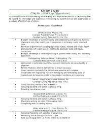 nursing resume with experience sle lpn nursing resume