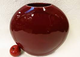 Vase Stands Round Oxblood Red Porcelain Vase 14