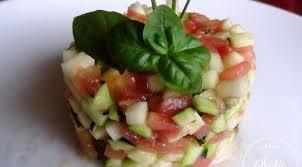 cuisine tomate tartare de courgette et tomate la tendresse en cuisine
