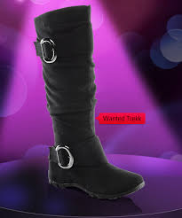 womens boots marshalls s wanted slouch buckle flat boots at shoe carnival