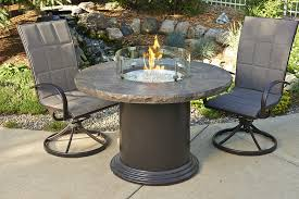 Fire Pit Tables And Chairs Sets - marbleized noche colonial chat dining or pub height fire pit table