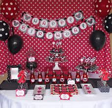 minnie mouse birthday decorations in red image inspiration of
