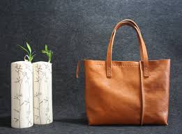 Handmade Leather Tote Bag - leather tote bag handmade leather bag tote bag large