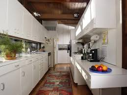mid century modern white laminate kitchen countertops in a kitchen