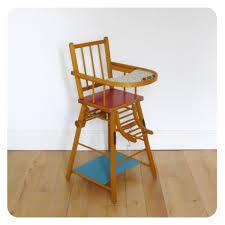 chaise pour bébé chaise haute bébé vintage mes petits meubles vintage