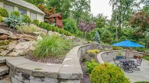 How To Landscape A Sloped Backyard - landscaping steeply sloped yard montclair nj sponzilli