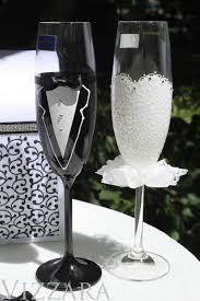 halloween wedding toasting glasses bride and groom toasting glasses champagne glasses wedding flutes