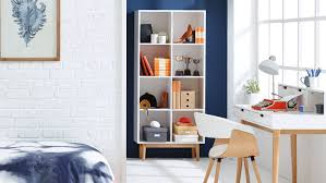 Narrow Cube Bookcase by Snow Cube Bookcase Domayne
