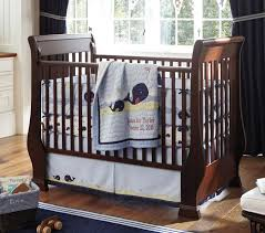 Sleigh Bed Cribs Sleigh Fixed Gate Crib Pottery Barn