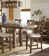 Counter High Dining Room Sets by Moriville Gray Extendable Counter Height Dining Table From Ashley