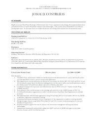 sample resume for dot net developer experience 2 years language
