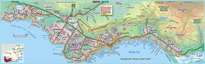 Southern Africa Map Hermanus Travel Guide Accommodation Tourist Information
