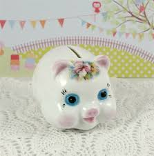 keepsake piggy bank personalised piggy bank porcelain keepsake for new baby or