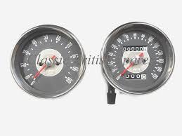 triumph smiths type grey face speedometer u0026 tachometer set 150 mph