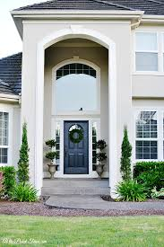 summer home tour 2015 arch stucco exterior and white trim