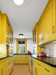 Bright Kitchen Galley Normabudden Com Small Kitchen Yellow Normabudden Com
