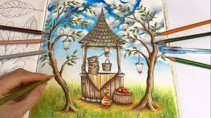 make a wish part 3 tree and grass coloring romantic country