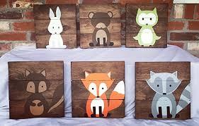 Woodland Animals Nursery Decor 6 Woodland Animal Nursery Signs Nursery Decor Baby