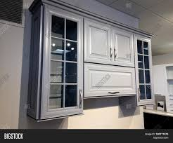 Molding On Kitchen Cabinets Kitchen Cabinet With Glass Doors Contemporary Full Overlay Wall